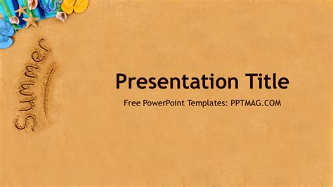 summer powerpoint template free summer powerpoint template prezentr