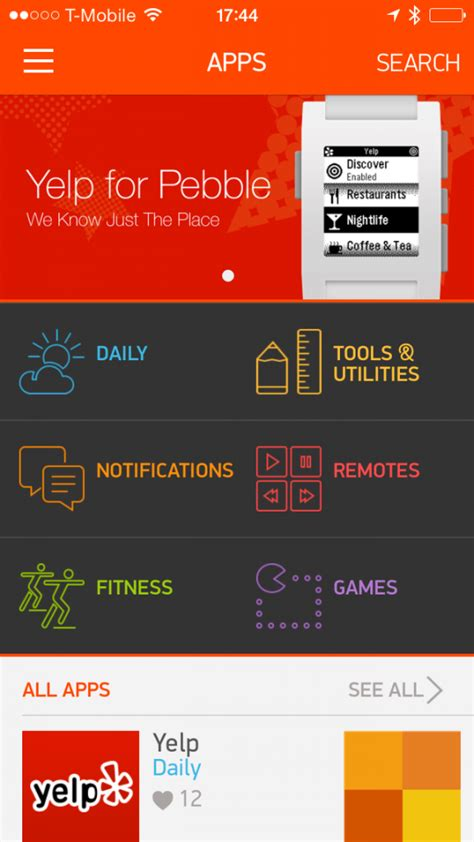 pebble apps for android pebble appstore goes live for ios android users left wanting for now