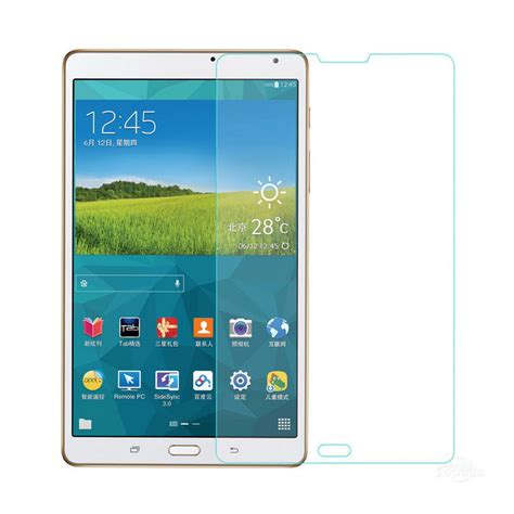 Tempered Glass Samsung Tab S T700 tempered glass screen protector for samsung galaxy tab s