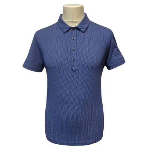 geometric pattern shirts c p company geometric pattern polo shirt in blue cpu0062