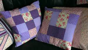 The Patchwork - purple patchwork cushions sew sensational