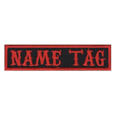 Custome Name 1 custom name tag biker patch 5 x 1