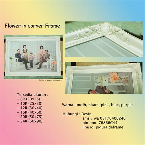 Wall Decor Kayu Pinus pigura ukir flower 30x40 pigura foto scrapbook home