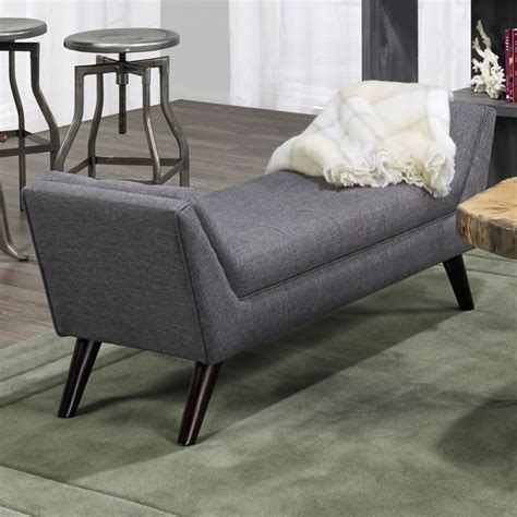 bench furniture canada nspire kaya double bench grey disc 401 887gy modern