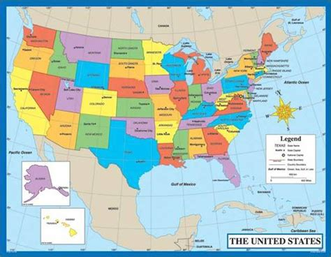 usa map labeled with states and capitals printable map of the united states with states and