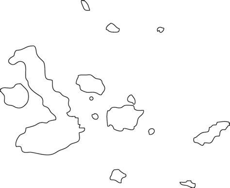 Island Outline by Free Galapagos Map Coloring Pages