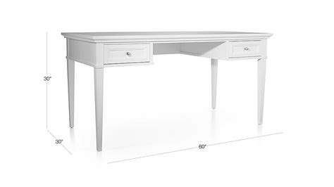 crate and barrel white desk harrison 60 quot white desk with drawers crate and barrel