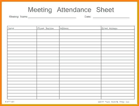 aa attendance card template aa meeting tracking