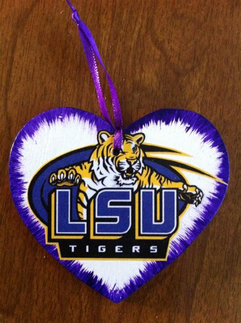 lsu christmas ornament or gift tag free personalization