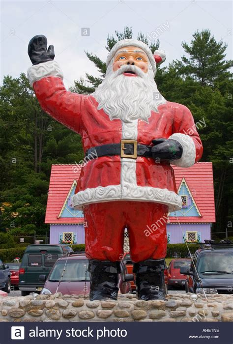 giant santa claus at magic forest a fairy tale themed