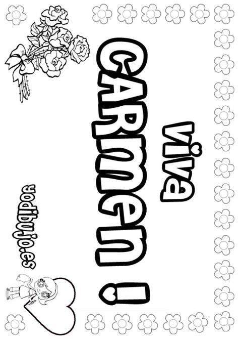 imagenes de el nombre carmen dibujos para colorear carmen es hellokids com