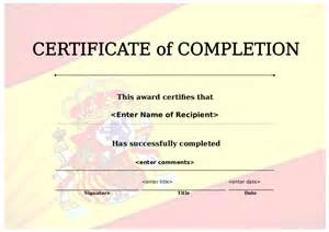free template certificate of completion certificate of completion free certificate of completion