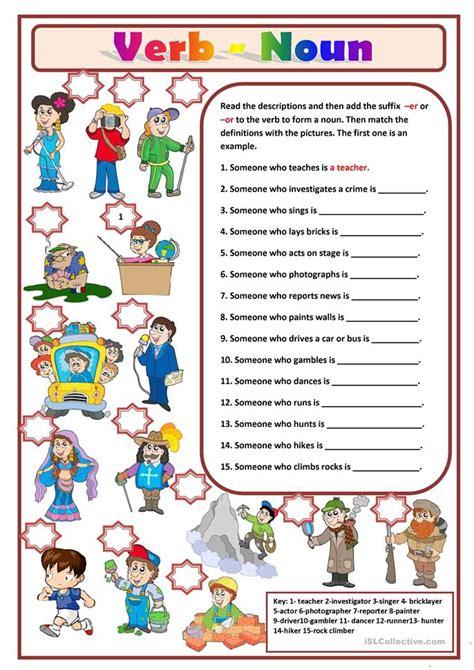 Noun And Verb Worksheets by Verb Noun Worksheet Free Esl Printable Worksheets Made