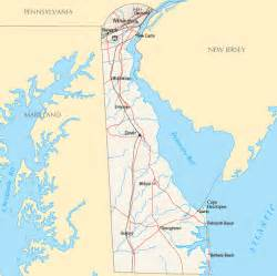 Delaware On Usa Map by Delaware Map