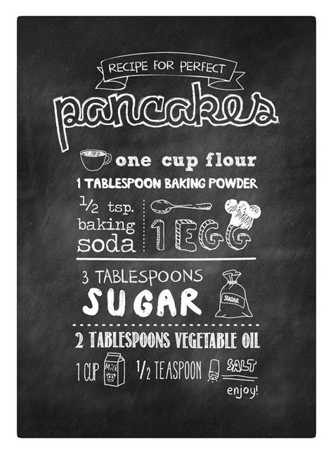 printable pancake recipes perfect pancake recipe canvas print perfect for your
