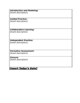 simple project based learning pbl lesson plan template by