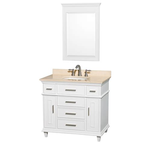 Ackley 36 Inch White Finish Bathroom Vanity 36 Inch Bathroom Vanity