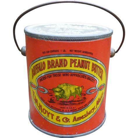 buffalo brand peanut butter tin pail from amazingamericana