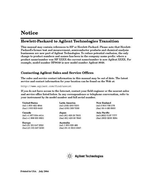 Hp Agilent Technologies 3314a Function Generator Vol3