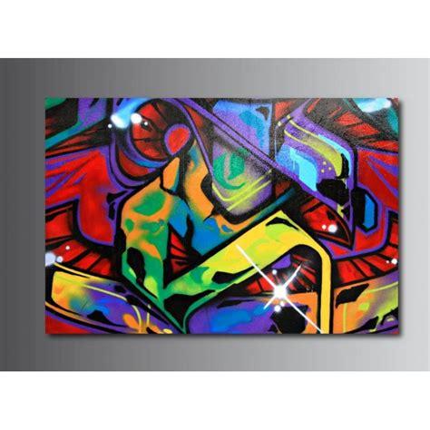 tableaux toile deco rectangle tag graffiti art deco stickers