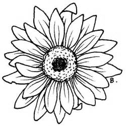 Outline Of Sunflower To Colour by Beccy S Place Sunflower Gerbera