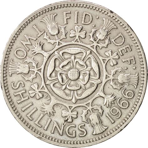 Search Great Britain Great Britain Elizabeth Ii Florin Two Shillings 196