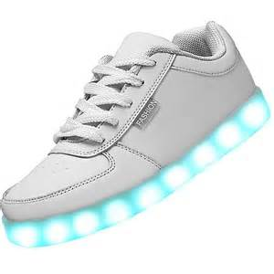 Led Lights On Shoes Usb Charging Led Shoes White Classic Flashing Sneakers
