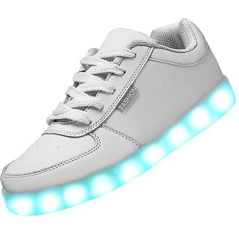 white shoes usb charging led shoes white classic sneakers