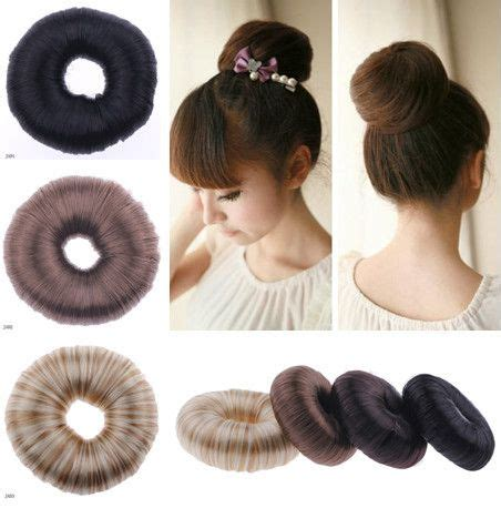 Ponytail Donut Hair | details about korean hairpiece hair donut bun ponytail