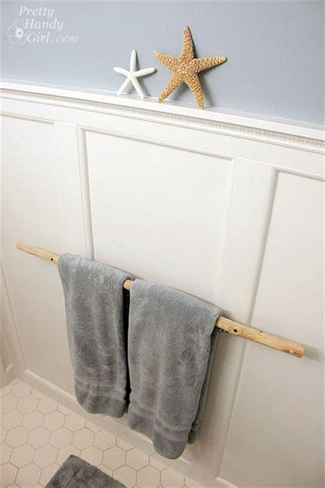 creative diy towel rack ideas for your boring bathroom