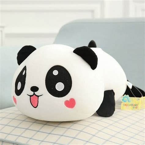panda plush doll stuffed animal panda pillow