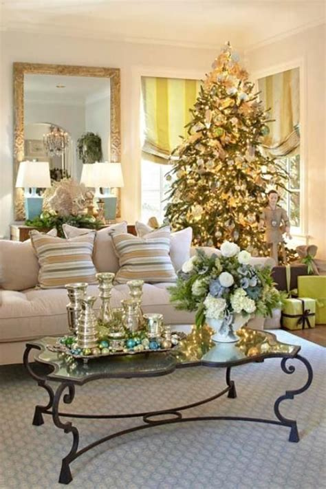 Living Room Christmas Decorating Ideas | 55 dreamy christmas living room d 233 cor ideas digsdigs