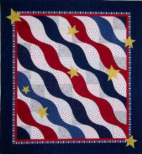quilts of valor wave quilt pattern by the sweet tea