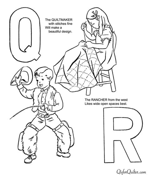 Q For Quilt Coloring Page by Q Is For Quilt Coloring Pages