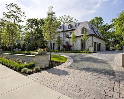 home driveway design ideas curb appeal driveways circle driveway and brick pavers
