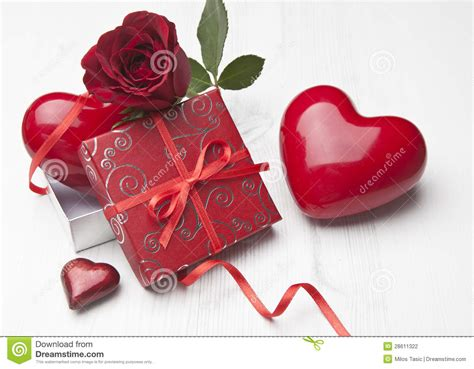Gorgeous Valentines Gifts by Beautiful Gift With Stock Photo Image
