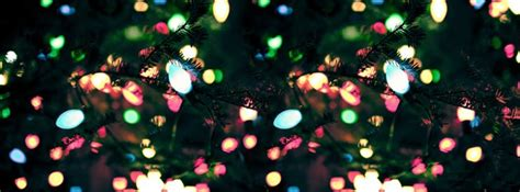 colorful christmas light facebook cover photo holiday