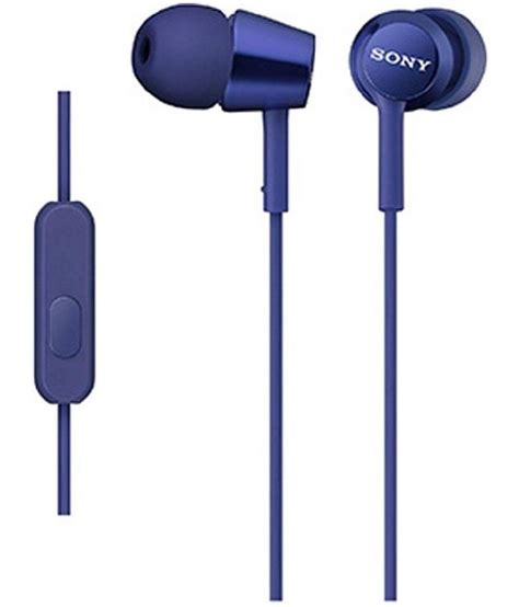 Sony Earphone Mdr Ex150apl Blue buy sony sony mdr ex150ap blue in ear wired earphones with mic blue at best price in