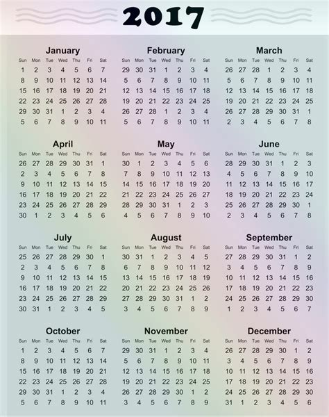 4 year calendar template free printable 2017 yearly calendar 187 calendar template 2018