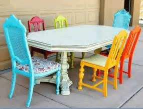 Different Colored Dining Chairs Different Colored Chairs This Look Furniture Clue