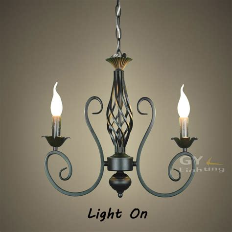 Ac100 240v 52 40cm 2pcs E14 Candle Wrought Iron Chandelier Iron Candle Chandelier