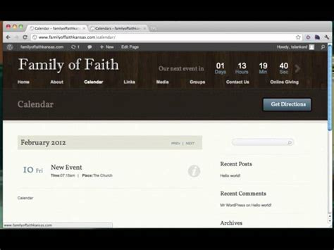 tutorial wordpress theme wp church wordpress theme tutorial