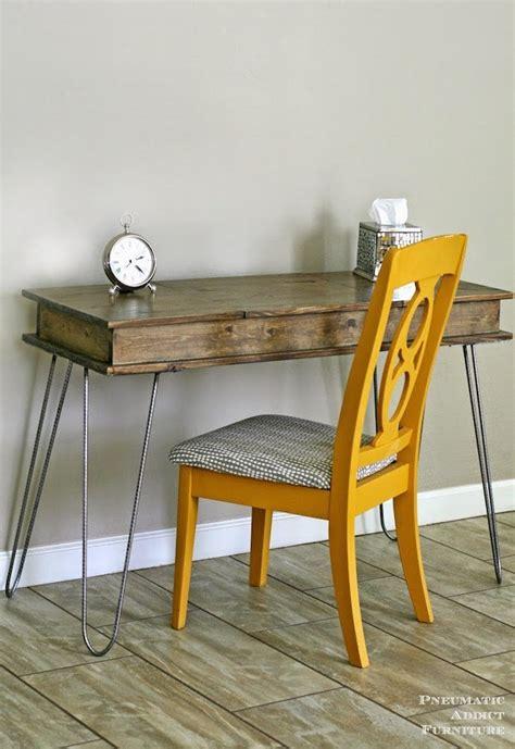 hairpin leg vanity table  built  storage