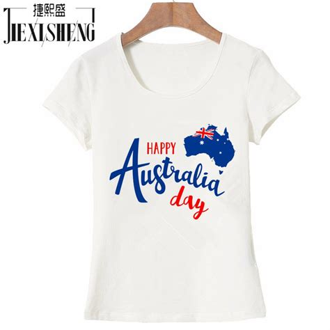 design a shirt australia happy australia day letter design printed t shirt women