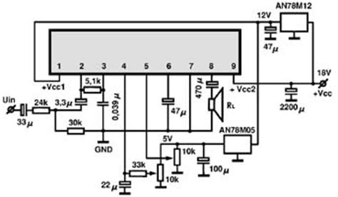 an214 audio integrated circuit data datasheet an5270 audio ic electronic circuits tv schematics audio