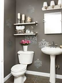 decorating bathroom walls ideas gray powder room contemporary bathroom bhg