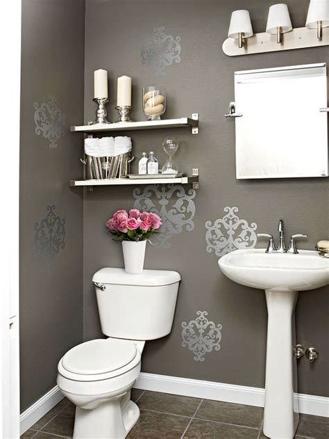 Bathroom Wall Accessories Gray Powder Room Contemporary Bathroom Bhg