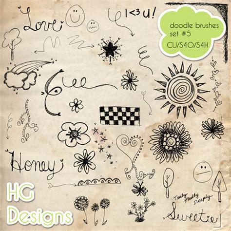 doodle brushes 30 scribbles and doodles photoshop brush sets bluefaqs