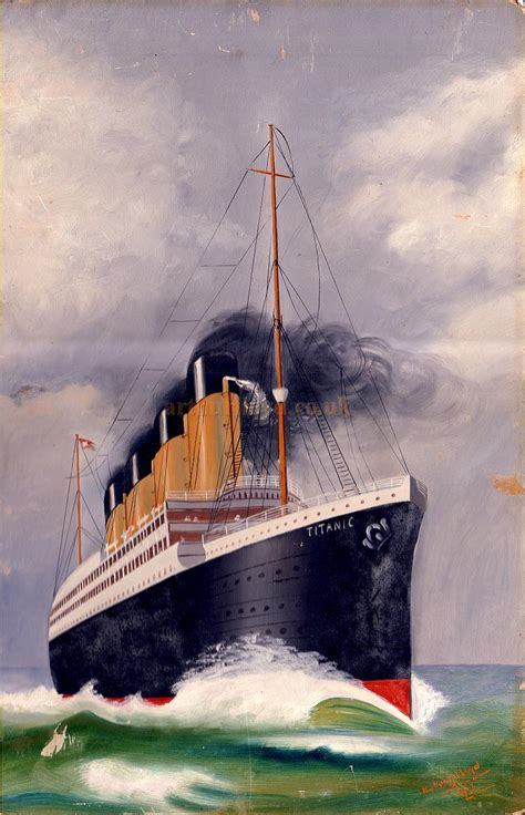 in what year did the titanic sink harry lloyd s paintings of the titanic 1912 the year