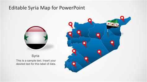 template syria editable syria map powerpoint template slidemodel